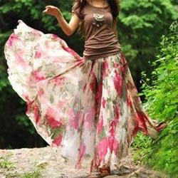 Модная шифоновая юбка